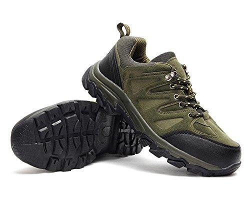 Z&HX sportsScarpe da arrampicata scarpe da passeggio antisdrucciolevoli in vita solida scarpe da passeggio impermeabili scarpe sportive army green