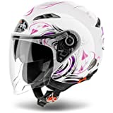 Airoh casque jet city one heart bianco-grafica Violet métallique coh38 taille xS