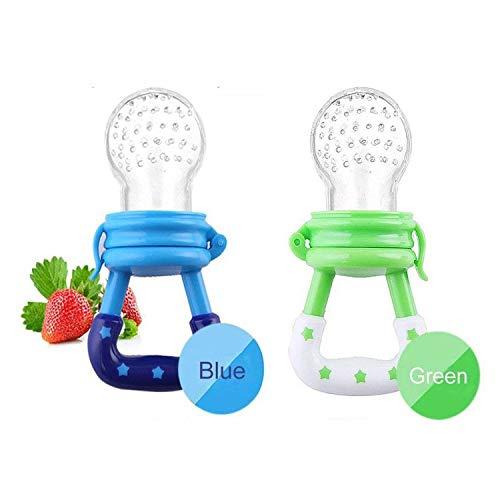 Alimentador de frutas para bebés chupete (2 piezas) - Yisscen Silicone Fresh Food Feeder | Chupete...
