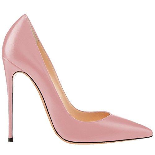 MERUMOTE Damen Spitze Stilett Matte Kleid-Partei Hochzeit Pumps EU 35-46 Pink