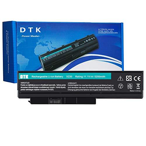 DTK Bateria de Laptop para Lenovo ThinkPad X230 X230i X220 X220i X220s  0A36282 45N1029 45N1023 45N1025 0A36306 0A36281 0A36283 42T4863 42T4865  Batería