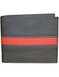 Generic Men's Gray And Orange Color Stylish Leather Wallet