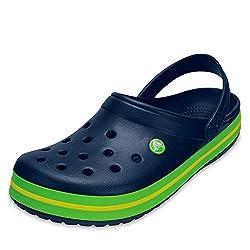 Der Crocband Clog für Herren und Damen von Crocs ist ein Schuh für jedes Alter und für jede Gelegenheit.  Egal ob Freizeitschuh, Badeschuh, Sandale oder Arbeitsschuhe im Garten - diese Schuhe passen immer. Pflegehinweis lt. Hersteller: Setzen Sie Ihr...