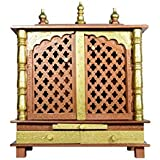 Wooden Temple/Home Temple/Pooja Mandir/Pooja Mandap/Temple for Home with White Light (LXBXH) (24X12X29) INCHES