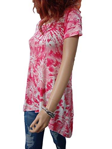 holidaysuitcase Holiday Holiday Suitcase Damen Sexy Sommer Batik Taschentuch He M Top Übergröße 12-26 UK Rosa