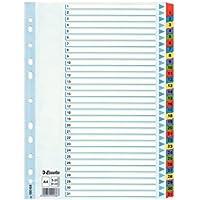 Esselte Índices numéricos de cartón Mylar, Tamaño A4, Tipo 1-31, Multicolor, 100164