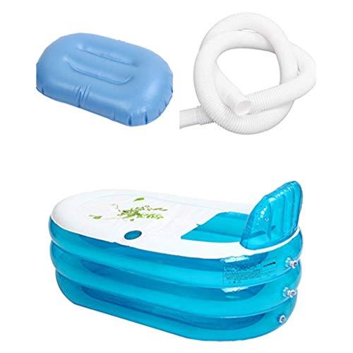 Reeseiy Faltbare Aufblasbare Badewanne Home Camping Travel Folding Badezimmer Spa Chic Mit Kissen Rohr Erwachsene Blau Aufblasbare Whirlpool Badewanne Sale Garten Täglich Gebrauch Produkt