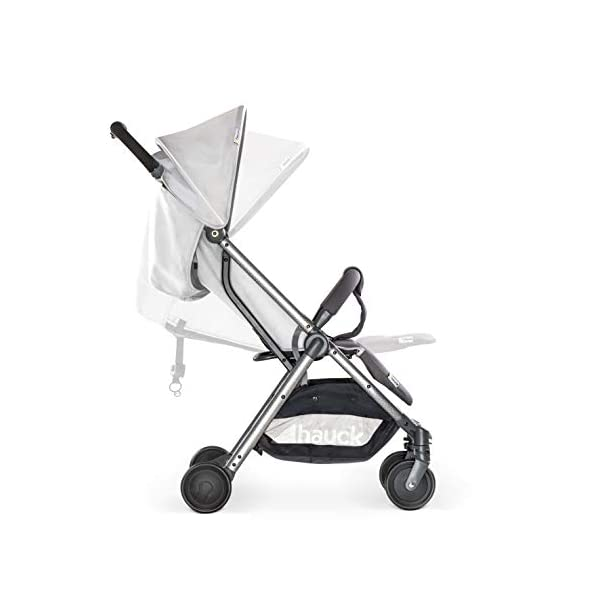 Hauck Swift Plus, Compact Pushchair with Lying Position, Extra Small Folding, One Hand Fold, Lightweight, Carrying Strap, from Birth Up To 15 kg, Lunar Hauck Our smallest comfort stroller Extra small and fast folding with one hand Extremely light - easy to carry over the shoulder 3