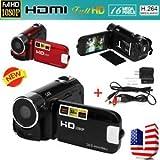 "Tradico® TradicoBrand New 2.7"" Full HD 1080P Digital Zoom Video Camera DV Camcorder 16MP 16 X 32GB SD/SDHC"