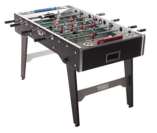 Tekscore Football Table with Folding Legs (Black Finish)