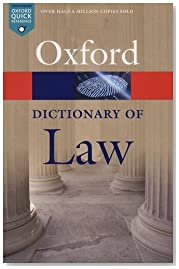 A Dictionary of Law 8/e (Oxford Quick Reference)