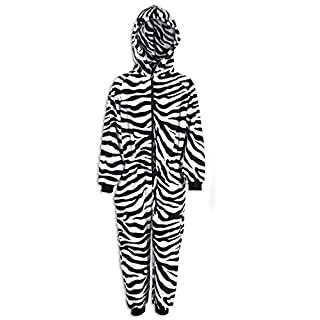 Camille Various Style Fun Print Childrens Onesie Pyjama Sets 9-11 Years Black and White Zebra