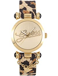 Guess Damen-Armbanduhr XS Analog Quarz Leder W10619L1
