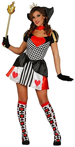 Fancy Me Damen Sexy Königin der Herzen Alice im Wunderland büchertag Woche Halloween Kostüm Kleid Outfit UK 10-12-14 - Schwarz, Schwarz, 10-14