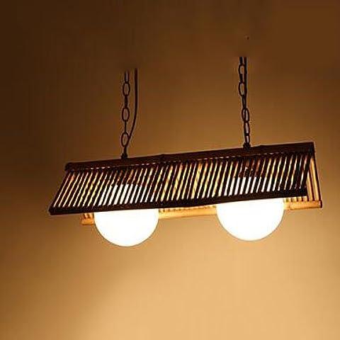 Madera de bambú japonesa personalidad creativa de la lámpara araña de espárrago de sala de estar dormitorio den restaurante [Eficiencia: A +]