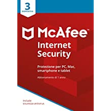 McAfee MIS 3 Internet Security con 3 Dispositivi