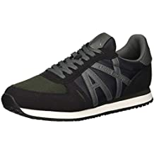 Armani Exchange Homme Chaussures Sneaker Micro Suede XUX017 XV028 6e1a7f7bbf0