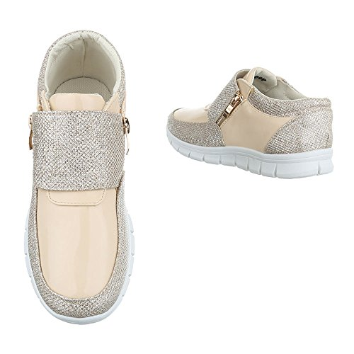 Ital-Design - Low-top Donna Gold Beige