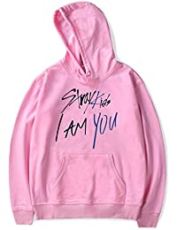 7a218733c2180 SIMYJOY Unisex Sudadera para Stray Kids Fanáticos con Logo Pullover I Am  You Hip Pop Sudadera