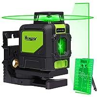 Huepar 901CG Laser Level Mute - Green Beam Cross Laser Self-Leveling - Green Laser Level - 360° Self Levelling Laser Line - Professional Leveling Tool - Green Line Lasers - Laser Spirit Level