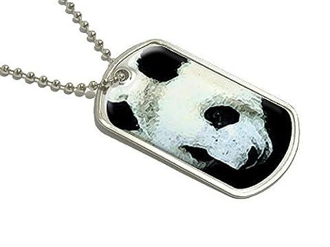 Panda-Bär-Dog Tag/Halskette mit Anhänger