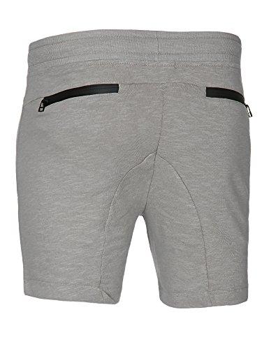 Stitch & Soul Herren Shorts Sweatshorts Sweat Jogg Sport Grau (Light Grey)