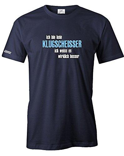 ICH BIN KEIN KLUGSCHEISSER ICH WEISS ES WIRKLICH BESSER - HERREN - T-SHIRT in Navy by Jayess Gr. M (Ein T-shirt Besseres)