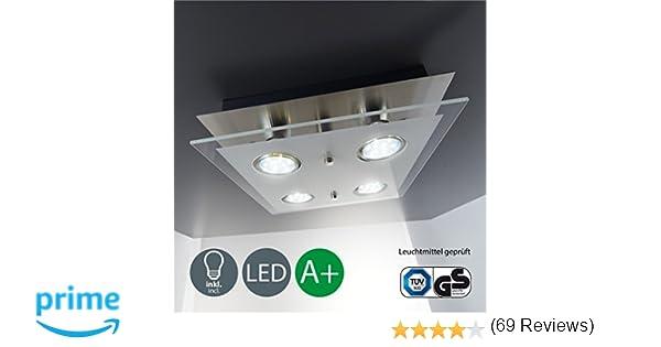 B k licht plafonnier led moderne verre satiné w gu lampe