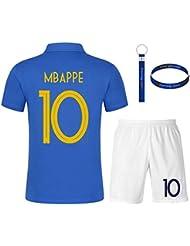 317f6f2b6755a Daoseng Maillots de Sport Garçon Football T-Shirt et Short France 2 Étoiles  Vêtements de