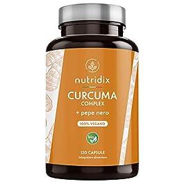 Curcuma Bio Turmeric 1300mg Dose con Pepe Nero e Zenzero – Potente Antiossidante e Antinfiammatorio con Curcumina e…