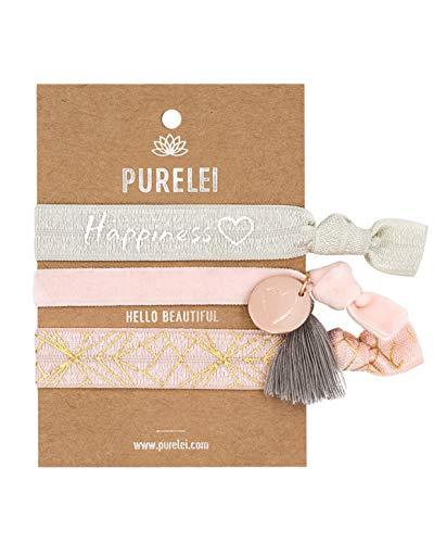 PURELEI ® Damen Armband (Elastisch & Größenverstellbar) Haargummi + Schmuck (Verschiedene Muster) Haarband Frauen