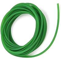 KOKO Zhu Correa Redonda de Poliuretano de 5 mm * 10 m, Correa Redonda de Poliuretano de Poliuretano de Superficie Rugosa Verde para transmisión de transmisión