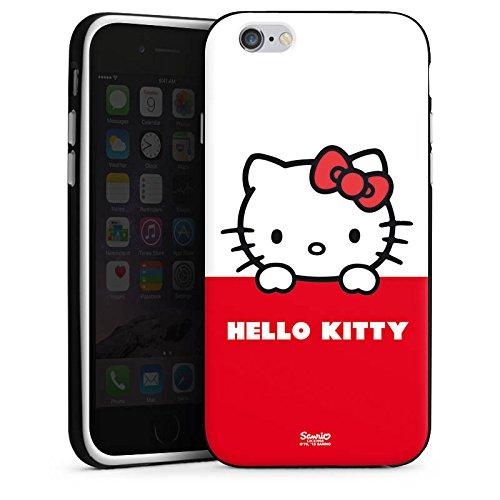 Apple iPhone SE Hülle Case Handyhülle Hello Kitty Merchandise Fanartikel Cute Kawaii Silikon Case schwarz / weiß