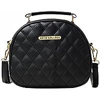 ASTIR COLLEEN Leather Women/Girls Satchel Handbag (Duvet)
