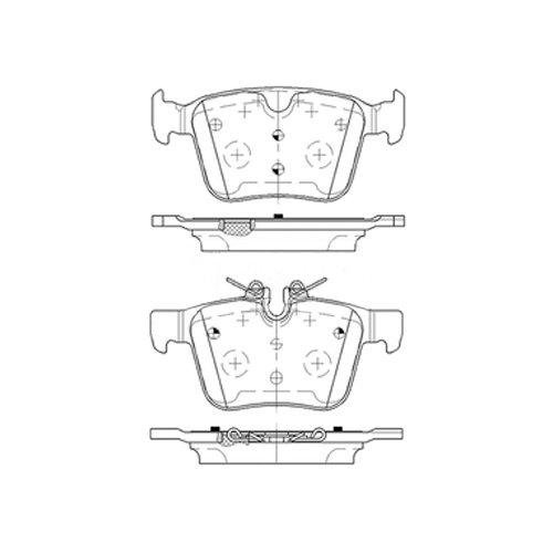 Borg & Beck BBP2516pastiglie