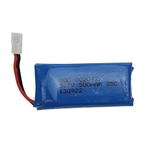 4-x-Baterias-de-repuesto-500mAh-para-Hubsan-X4-H107L-H107C-H107D-Nanodrone-vCAM-V2-Skyview-y-Top-Selling