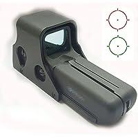 WorldShopping4U Punto rojo y verde Punto 557 Versión 2 holográfica del alcance del rifle de la vista con 10 Nivel de brillo (Negro) del carril de 20 mm apto para Airsoft táctico de paintball de caza