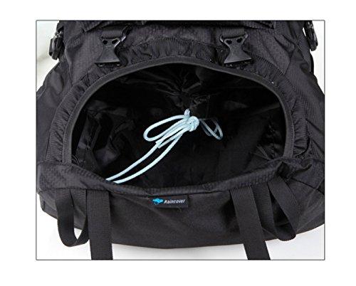 LAIDAYE Große Kapazität Tasche Multifunktionale Taschen Sporttaschen Außentaschen Reisetaschen Rucksäcke Umhängetaschen Black