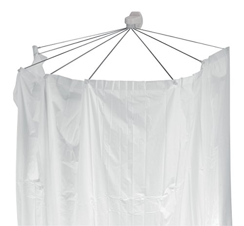 Spirella Duschspinne Duschfaltschirm Ombrella weiß Duschvorhang