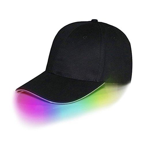Beautyrain Alumbrado Gorras de béisbol luminosa del club noche Partyl Hip Hop Deportes ajustables