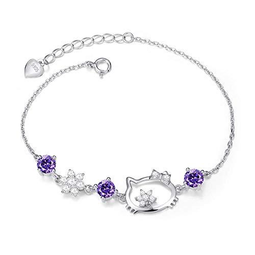 Purple Kitty Zubehör Set - AQGELSL Koreanische Mode 925 Hallo Kitty
