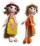 Aayam Design and Solutions Doll shape yellow color plastic Fridge Magnets (5 cm x 2 cm x 2 cm )
