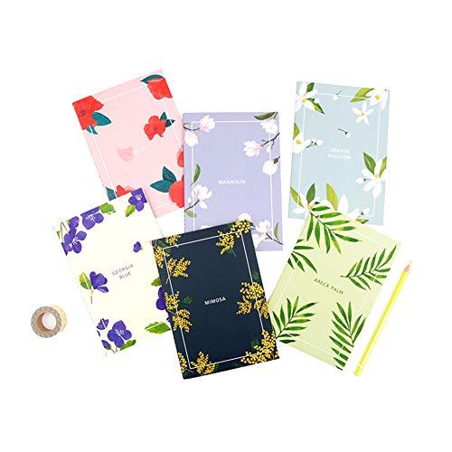 gracebell Flower Blossom//Notizbuch/Tagebuch Tagebuch Set-12,4x 21,1cm (6verschiedene Designs 1Set)