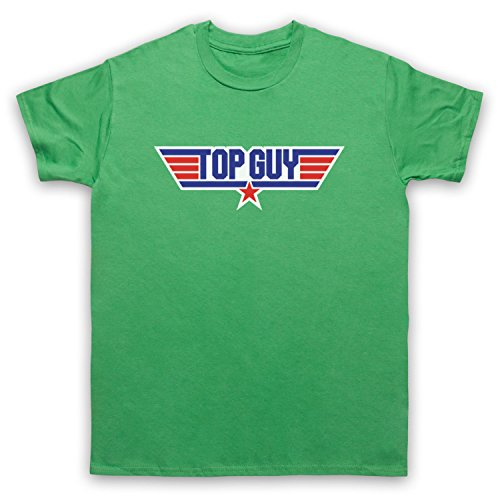 Top Guy Parody Logo Herren T-Shirt Grun