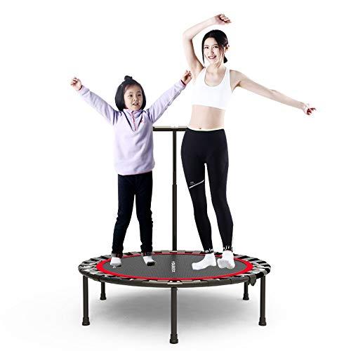 FLY FLU Fitness-Trampolin Klappbar, Cross Jump Trampoline /2-Fach Höhenverstellbarer Haltegriff, Nutzergewicht Bis 300kg, Trampolin Für Jumping Fitness
