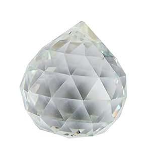 Boule de cristal Feng Shui transparente à facettes, 80mm, avec bracelet rouge AA385 Mxsabrina gratuit
