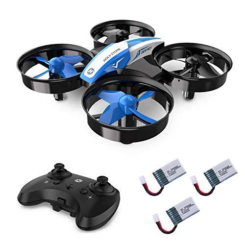 Holy Stone HS210 Mini Drohne für Kinder, Indoor Quadrocopter Helikopter Ferngesteuert mit 3 Akkus, Bis zu 21 Minuten Flugzeit, Anfängerfreundliche Funktionen, Ideal für Kinder Anfänger, Blau