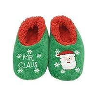 Snoozies män och kvinnor jul familj tofflor, - Mr Claus - Large