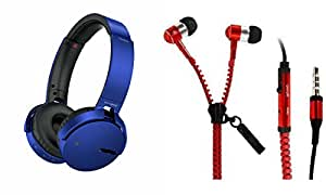 MIRZA Extra Bass XB650 Headphones & Zipper Headset for PANASONIC ELUGA Z(XB 650 Headphones,With MIC,Extra Bass,Headset,Sports Headset,Wired Headset & Headset,Zipper Headset)
