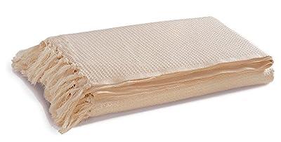 EHC 254 x 380 cm Jumbo 100 Percent Cotton Waffle Design 4/ 5-Seater Sofa/ Super King Bed Throw